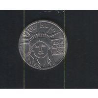 Жетон Статуя Свободы монета аркадная игра валюты Yuehua. Возможен обмен