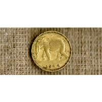 Конго / Бельгийское Конго 1 франк 1944 / фауна / слон /(Nу)