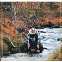 Финляндия годовой набор 2003 года в буклете+ жетон монетного двора