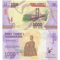 Мадагаскар 1000 ариари образца 2017 года UNC p100