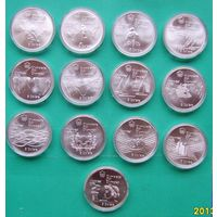 5 ти долларовые монеты Олимпиада 1976г.