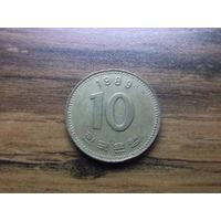 Южная Корея 10 вон 1989