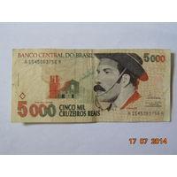 "Бразилия 5000 крузейро 1993г. __""РЕДКАЯ""__"