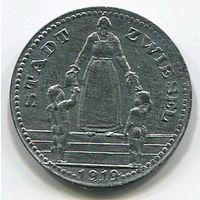 Ng ЦВИЗЕЛЬ - 10 ПФЕННИГОВ 1919