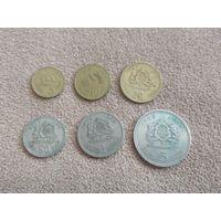 Марокко набор 6 монет 1974-1980