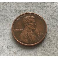США 1 цент 1974 (S - Сан-Франциско)