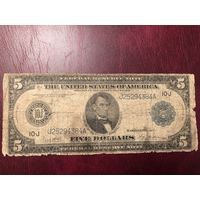5 долларов 1914