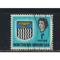 GB Колонии Родезия Северная 1963 EII Герб Стандарт #76