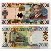 Сьерра Леоне. 2000 леоне (образца 2006 года, P26c, UNC)