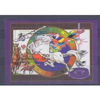 [86] Коморы 1989. Олимпиада.Конный спорт.Лошади. БЛОК.