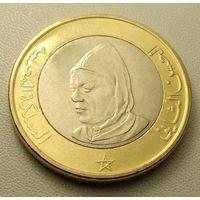 "Марокко. 10 дирхамов 1995 год  Y#92   ""Король Хасан II"""