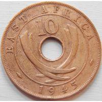 3. Британская Восточная Африка 10 центов 1945 год