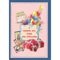 Я помню все ваши дни рождения. Книга для записей (цветной)