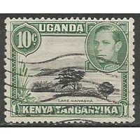 Кения Уганда и Танганьика. Король Георг VI. Озеро Найваша. 1938г. Mi#56.