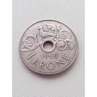 1 крона 1999 г. Норвегия.