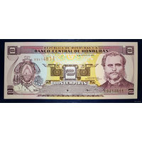РАСПРОДАЖА С 1 РУБЛЯ!!! Гондурас 2 лемпира 2001 года UNC