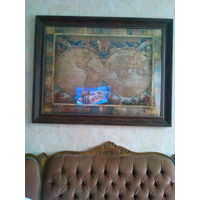 Картина интерьерная большая 116 х 91 под стеклом