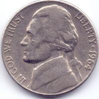 США, 5 центов 1964 года.