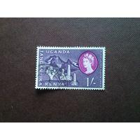 Британская колония.Kenya Uganda Tanganyika 1960г.Номинал 1 шилинг.