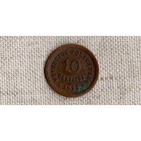 Португалия 10 сентаво 1925 /FV/
