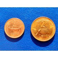 Фиджи. 1 цент 1999, 2 цента 1995.