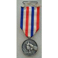 Франция.Почетная медаль железной дороги 2 класса (25 лет выслуги) образца 1939 года.