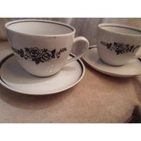 Чашки чайные с блюдцами Барановка.