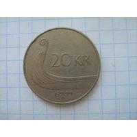 Норвегия 20 крон 1994г.