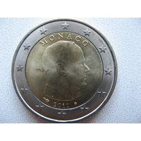 Монако 2 евро 2011 г. UNC!
