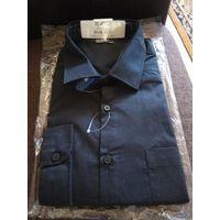 Рубашка мужская, цвет черный, р-р XL 43/44