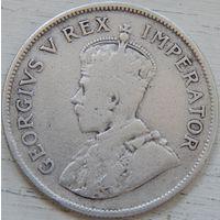 16. Южная африка Георг-5, 2 1/2 шиллинга 1927 год, серебро