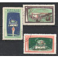 Космом Вьетнам 1971 год серия из 3-х марок