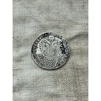 Австрия 20 крейцеров 1818 г.