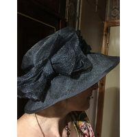 Шляпа Шляпка 55 Англия цвет темно-серый НОВАЯ натуральный сизаль