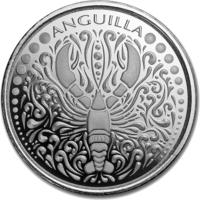 Anguilla Lobster, Омар, Карибские о-ва, 2018, инвестиционная, 1 oz (в т.ч. и обмен)