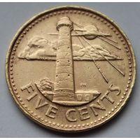 Барбадос, 5 центов 1999 г.