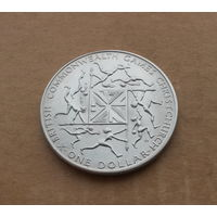 Новая Зеландия, доллар 1974 г., игры Содружества
