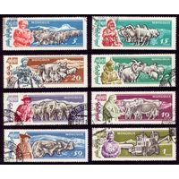 8 марок 1961 год Монголия 40 лет Республике 242-247,249-250