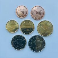 Эстония, набор монет евро 2011 года (2-5-10-20-50 центов, 1 и 2 евро) UNC из ролла