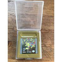 Оригинальный Pokemon Gold для Nintendo Game Boy с кейсом