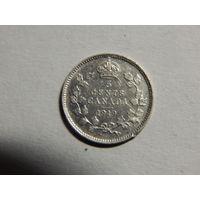 Канада 5 центов 1919г