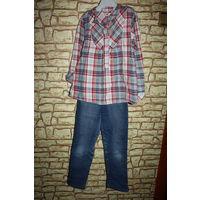 Джинсы с рубашкой на рост 110-116 см