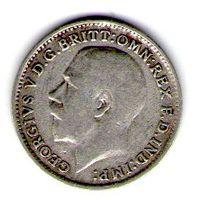 Великобритания 3 пенса 1921 года.