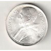Ватикан 500 лира 1968