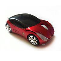 Беспроводная мышь в виде автомобиля, мышь - автомобиль. Красная, новая.
