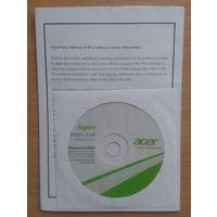 Драйвера к ноутбуку aser Aspire 510/E1-510P Resourse DVD.