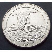 США. 25 центов 2018. Block island /D/