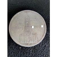 5 рейхсмарок Германия (Третий Рейх) 1934 год A, Кирха с надписью.Серебро 900. 34