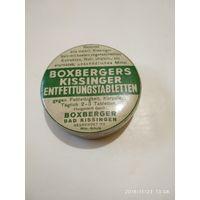 Старинная жестяная упаковка из под BOXBERGERS KISSINGER ENTFETTUNGSTABLETTEN.Made in Germany.1930-ые г.г.