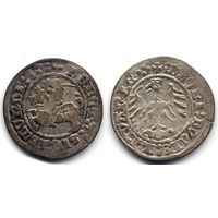 Полугрош 1513, Жигимонт Старый, Вильно. Окончания легенд: Ав - ':13:', Рв - 'LITVANIE.:.'